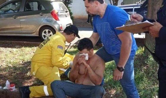 Ele foi socorrido pelo corpo de bombeiros na ,Cidade do Leste - fronteira com Foz do Iguaçu, onde cursava medicina. (Foto: Divulgação Vanguardia)