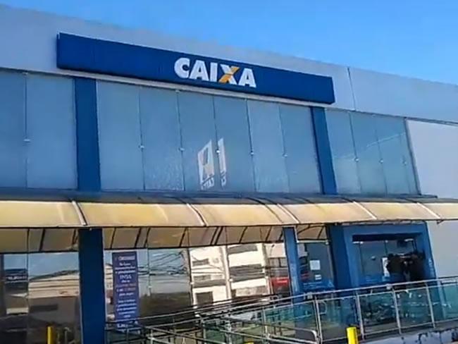 Agência da Caixa da Avenida Princesa do Sul (Foto: Reprodução TV Alterosa)